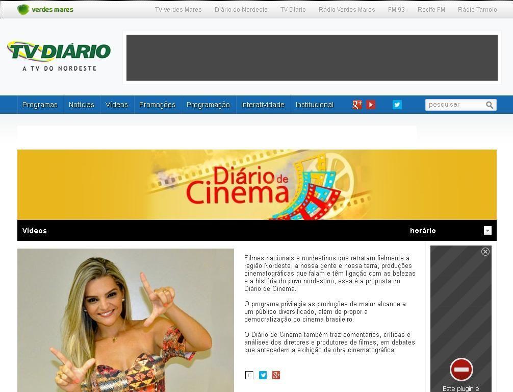 TV Diário exibe filmes do diretor Philipe Ribeiro